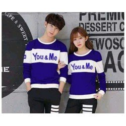 Sweater You Me Neo Benhur White - Mantel / Busana / Fashion / Couple / Pasangan / Babyterry / Kasual