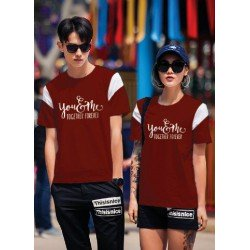CP Together Maroon - Baju / Kaos / Oblong / Couple / Pasangan / Kasual