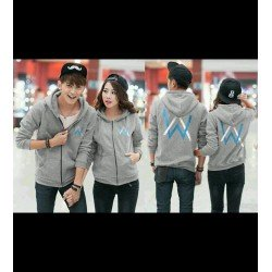 Jacket Alan Walker Abu - Jacket / Busana / Fashion / Couple / Pasangan / Babyterry / Sporty