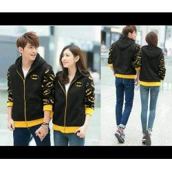 Jacket Batman Hitam - Jacket / Busana / Fashion / Couple / Pasangan / Babyterry / Sporty