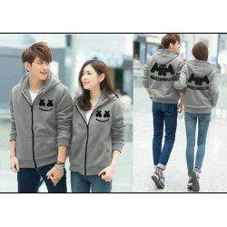 Jacket Marshmello Abu - Jacket / Busana / Fashion / Couple / Pasangan / Babyterry / Sporty