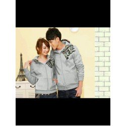 Jacket Qing Army Abu - Jacket / Busana / Fashion / Couple / Pasangan / Babyterry / Sporty