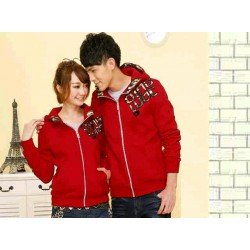Jacket Qing Army Merah - Jacket / Busana / Fashion / Couple / Pasangan / Babyterry / Sporty