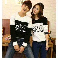 Sweater EXO - Mantel / Busana / Fashion / Couple / Pasangan / Babyterry / Kasual