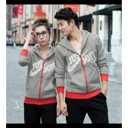 Jaket Do It Nike Abu - Mantel / Busana / Fashion / Couple / Pasangan / Babyterry / Sporty