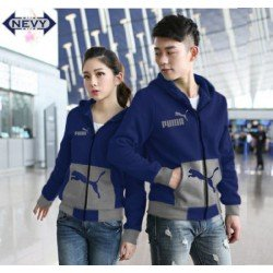 Jaket Puma Pocket Navy Misty - Mantel / Busana / Fashion / Couple / Pasangan / Babyterry / Sporty