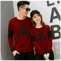 Sweater Alpha Neo Maroon - Mantel / Busana / Fashion / Couple / Pasangan / Babyterry / Kasual