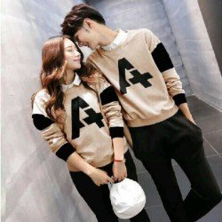 Sweater Alpha Neo Mocha - Mantel / Busana / Fashion / Couple / Pasangan / Babyterry / Kasual