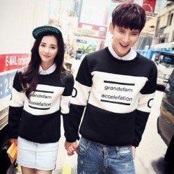 Sweater Grand Black - Mantel / Busana / Fashion / Couple / Pasangan / Babyterry / Kasual