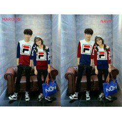 Sweater Hand Fila - Mantel / Busana / Fashion / Couple / Pasangan / Babyterry / Kasual