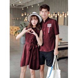 Dress Arctic Maroon - Dress / Busana / Fashion / Couple / Pasangan / Kasual / Elegan