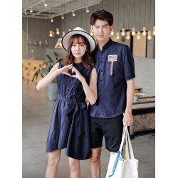 Dress Arctic Navy - Dress / Busana / Fashion / Couple / Pasangan / Kasual / Elegan