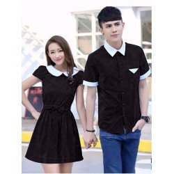 Dress Daisy Black - Dress / Busana / Fashion / Couple / Pasangan / Kasual / Elegan