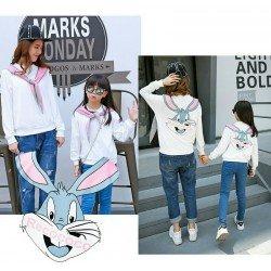 MK Sweater Bunny - Baju / Stelan / Mom Kid / Ibu Anak / Kartun / Korea