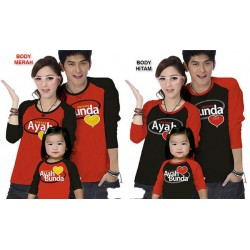 FM Sayang Ayah Bunda - Kaos / Family / 1 Anak / Couple / Fashion / Pasangan / Supplier / Grosir / Murah / Unik