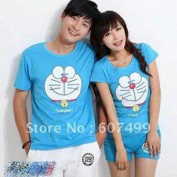 Doraemon - Kaos Couple / Baju Pasangan / Couple Grosir
