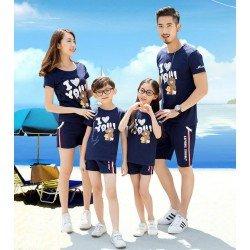 Family 2 Anak Brown Love - Baju Family / Family Couple / Baju Keluarga