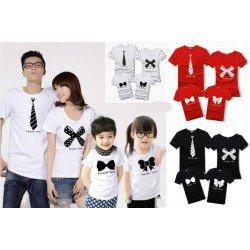 Family 2 Anak Dasi Pita - Baju Family / Family Couple / Baju Keluarga