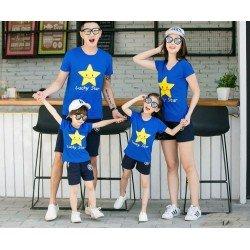 Family 2 Anak Happy Star - Baju Family / Family Couple / Baju Keluarga