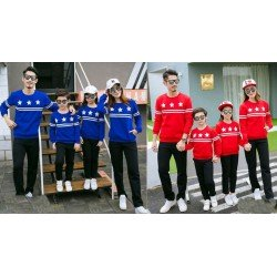 Family 2 Anak Sweater Bintang - Baju Keluarga / Family Couple / Grosir Couple