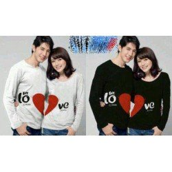LP Let Love - Kaos Couple / Lengan Panjang Couple / Grosir Couple / Baju Pasangan