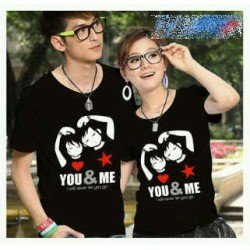 Never Let You Go - Kaos Couple / Baju Pasangan / Couple / Grosir Couple
