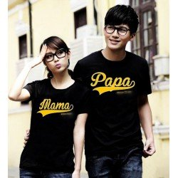 Papa Mama New - Kaos Couple / Baju Pasangan / Couple Grosir