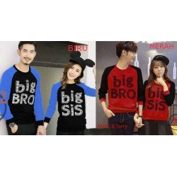 Sweater Big Bro Sis - Mantel / Busana / Fashion / Couple / Pasangan / Babyterry / Kasual