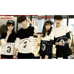 Sweater Three Star - Mantel / Busana / Fashion / Couple / Pasangan / Babyterry / Kasual