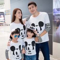 Family Mickey Salur - Kaos / Family / 2 Anak / Couple / Fashion / Pasangan / Supplier / Grosir / Murah / Unik