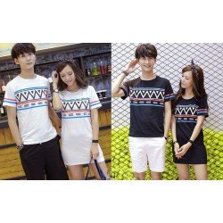 Mini Dress Zigzag - Dress Couple / Baju Pasangan / Fashion Korea / Grosir / Supplier