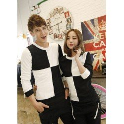 Sweater Catur Hitam Putih - Sweater Couple / Baju Pasangan / Grosir / Supplier