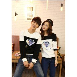 Sweater Diamond Blur - Sweater Couple / Baju Pasangan / Supplier Couple