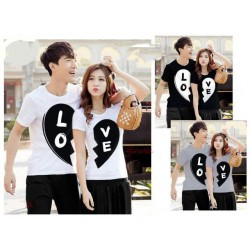 Black Love - Supplier / Kaos / Couple / Pasangan / Lengan Pendek / Jual