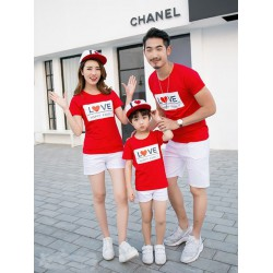 FM Love Happy - Kaos / Family / 1 Anak / Couple / Fashion / Pasangan / Supplier / Grosir / Murah / Unik
