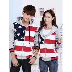 Jacket Bintang Lima Abu - Jacket Couple / Baju Pasangan / Grosir / Supplier Couple
