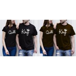 King Queen Mini - Kaos Couple / Baju Pasangan / Couple Grosir