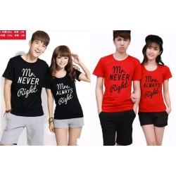 Never Always Right - Kaos Couple / Baju Pasangan / Couple Grosir