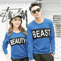 Sweater Beauty Beast Tourquise - Sweater Couple / Fashion / Supplier / Grosir