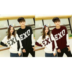 Sweater Big Exo Maroon - Mantel / Busana / Fashion / Couple / Pasangan / Babyterry / Kasual