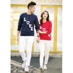 Sweater Love Susun - Sweater Couple / Supplier Couple / Pasangan / Fashion Couple