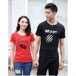 Beauty Beast - Kaos Couple / Baju Pasangan / Couple Grosir