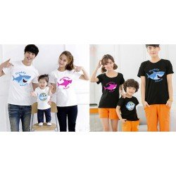 FM Baby Shark - Kaos / Family / 1 Anak / Couple / Fashion / Pasangan / Supplier / Grosir / Murah / Unik