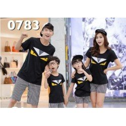 FM2 Fendi - Kaos / Family / 2 Anak / Couple / Fashion / Pasangan / Supplier / Grosir / Murah / Unik