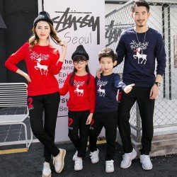 FM2 Sweater Deer - Baju Keluarga / Family Couple / Grosir Couple
