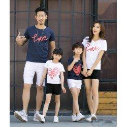 FM 2 Love Abstract - Baju Family / Family Couple / Baju Keluarga