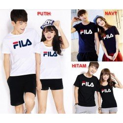 Fila Couple - Kaos Couple / Baju Pasangan / Couple Grosir