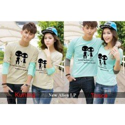 LP Alien - Baju Couple / Kaos Pasangan / Fashion Couple / Grosir