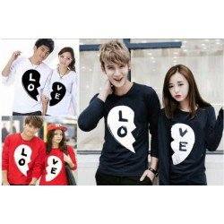 LP Black Love - Baju Couple / Kaos Pasangan / Fashion Couple / Grosir