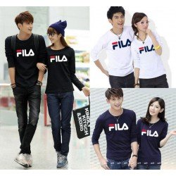 LP Fila - Baju Couple / Kaos Pasangan / Fashion Couple / Grosir